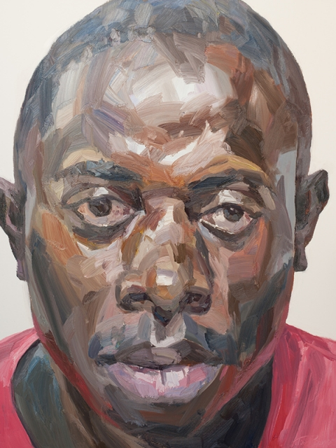 "'Ibrahim, hygienist, Connaught Hospital', oil on canvas, 60""x48"""