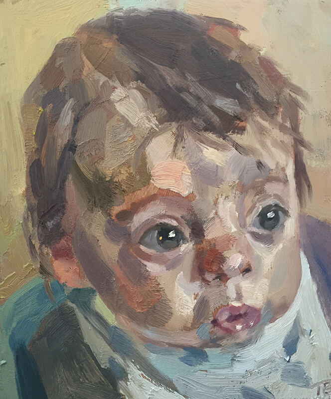 "'Baby', oil on board, 12""x10"""
