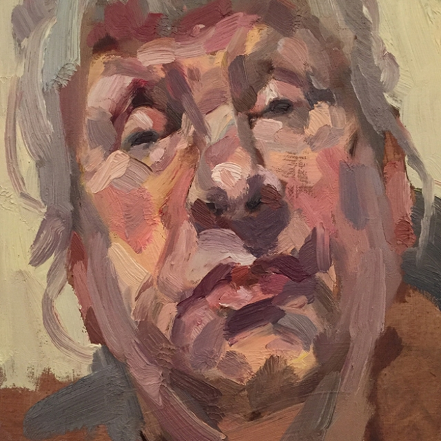 "'Bernie', oil on board, 12""x10"""