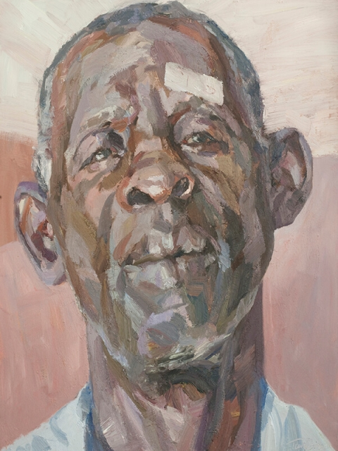 "Greenwell, cataract patient, oil on canvas, 48"" x 36"""