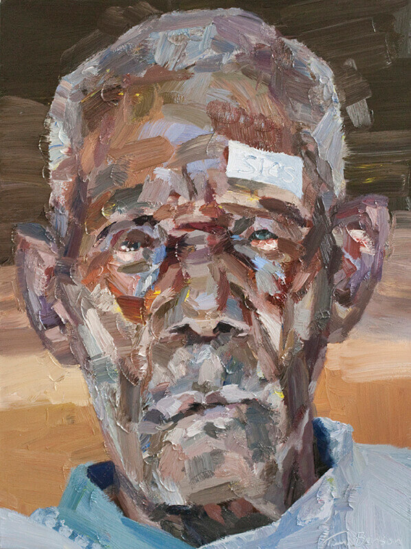 """Cataract patient, oil on canvas, 48"""" x 36"""""""
